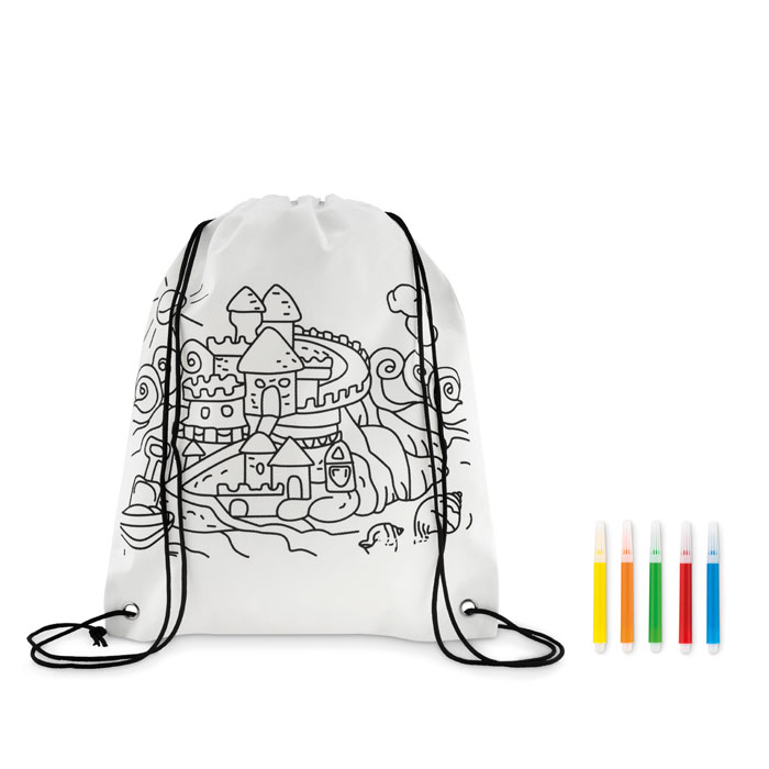 CARRYDRAW Non woven kids bag with pens